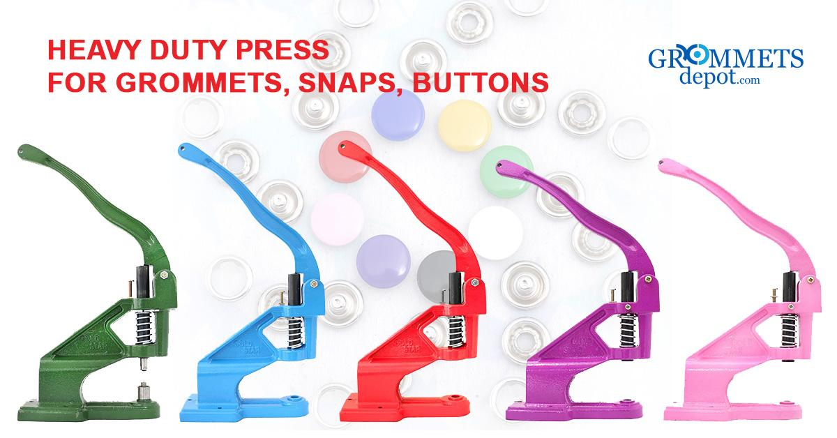 Super Heavy Duty Press for Buttons, Grommets, Rivets and Snaps (1 die set included)