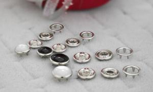 Pearl Prong Ring Snaps With Button Cover