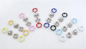 Enamel Open Ring Prong Ring Snaps