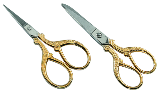 Goldstar Embroidery Scissors, Gold Plated